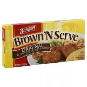 Banquet Brown and Serve Original Sausage Patty, 6.4 Ounce -- 12 per case.
