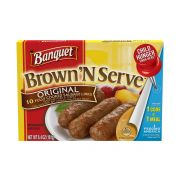 Banquet Brown and Serve Lite Original Breakfast Sausage Link, 6.4 Ounce -- 12 per case.