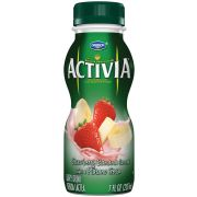 Activia Strawberry Banana Drink, 7 Fluid Ounce -- 12 per case.