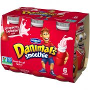 Danimal Strawberry Explosion Smoothie Drink, 3.1 Fluid Ounce -- 48 per case.