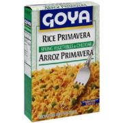 Goya Rice Primavera Spring Vegetables and Cheddar, 7 Ounce -- 12 per case