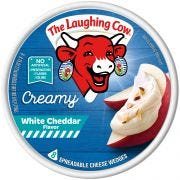 Laughing Cow White Spreadable Cheddar Cheese Wedges, 6 Ounce -- 12 per case.