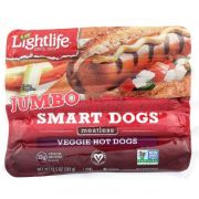 Lightlife Smart Dogs Veggie Hot Dog, 5 count per pack -- 14 per case