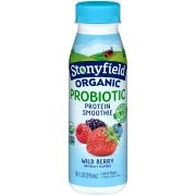 Stonyfield Farm Organic Lowfat Wild Berry Yogurt Smoothie, 10 Fluid Ounce -- 12 per case.
