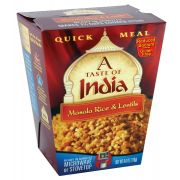 A Taste of India Masala Rice and Lentils, 6 Ounce -- 6 per case.