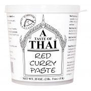A Taste of Thai Red Curry Paste, 35 Ounce Tub -- 3 per case.
