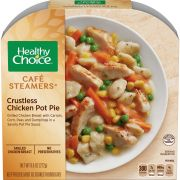 Healthy Choice Cafe Steamers Top Chef Crustless Chicken Pot Pie, 9.6 Ounce -- 8 per case.
