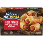 Hebrew National Beef Franks in a Blanket, 18.4 Ounce -- 6 per case.