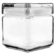 Anchor Hocking 1 Quart Stackable Square Jar -- 4 per case.