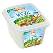 President Mediterranean Fat Free Feta Cheese Crumble, 6 Ounce -- 8 per case.
