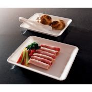 Party Tray Rectangular White Tray, 10 x 8 inch -- 25 per case.
