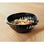 Yoshi Ware Emi PrepServe Pet Black Bowl, 80 Ounce -- 25 per case.