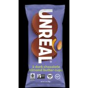 Unreal Dark Chocolate Almond Butter Cup Candy, 1.1 Ounce -- 72 per case.