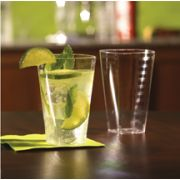 Squares Clear Extra Heavy Weight Tumbler, 12 Ounce -- 168 per case.