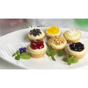 Cuisine Innovations Mini Assorted Cheesecake, 30 Ounce -- 10 per case.