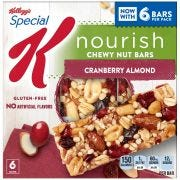 Kellogg Special K Cranberry Almond Cereal Bar, 1.16 Ounce -- 48 per case.