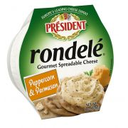 Rondele Peppercorn Parmesan Gourmet Spreadable Cheese, 8 Ounce -- 6 per case.