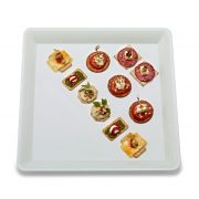 Party Tray White Square Tray, 18 x 18 inch -- 20 per case.