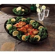 Party Tray Black Oval Platter, 14 x 21 inch -- 20 per case.