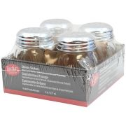 Tablecraft Swirl Glass Cheese Shaker, 6 Ounce - 4 count per pack -- 6 packs per case