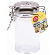Tablecraft Resealable Salt and Pepper Shaker with Stainless Steel Clip Top, 2 Ounce -- 6 per case