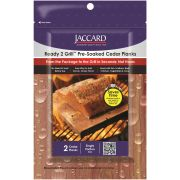 Jaccard Ready Two Grill Pre Soaked Small Cedar Planks, 2 count per pack -- 32 per case