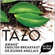Tazo Awake English Breakfast Enveloped Hot Tea Bags, 24 count -- 6 per case