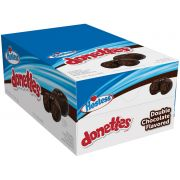 Donettes Single Serve Frosted Double Chocolate Mini Donuts, 3 Ounce -- 60 per case.