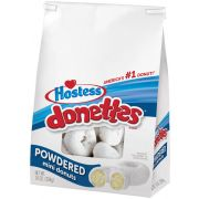 Hostess Powdered Sugar Donettes, 10.5 Ounce -- 6 per case.