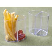 Small Wonders Clear Duo Container -- 200 per case.