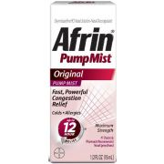 Afrin 12 Hour Original Pump Mist Nasal Spray, 0.51 Fluid Ounce -- 36 per case.