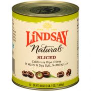 Lindsay Naturals Sliced Olives, 55 Ounce -- 6 per case.
