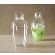 EMI Yoshi Neon Lights Clear Cocktail Shaker, 7 Ounce -- 24 per case.