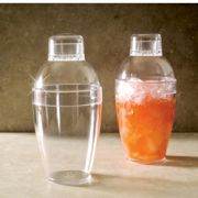 EMI Yoshi Neon Lights Clear Cocktail Shaker, 10 Ounce -- 24 per case.
