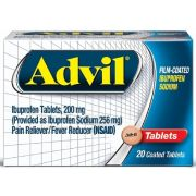 Advil 200mg Pain Reliever Film Coated Tablets, 20 per unit -- 72 per case