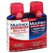 Mucinex Sinus Max Maximum Strength Day and Night Time Congestion and Cough Liquid, 6 Fluid Ounce -- 3 per case