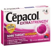 Cepacol Extra Strength Mixed Berry Sore Throat and Cough Lozenges - 16 count per pack -- 24 packs per case