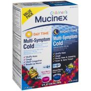 Mucinex Childrens Day Time and Night Time Multi Symptom Cold Relief Liquid, 8 Fluid Ounce -- 6 per case
