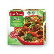 Innovasian Cuisine Beef and Broccoli Bowl, 9 Ounce -- 8 per case.