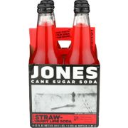 Jones Strawberry Lime Cane Sugar Soda, 4 count per pack -- 6 per case