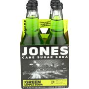 Jones Green Apple Cane Sugar Soda, 4 count per pack -- 6 per case