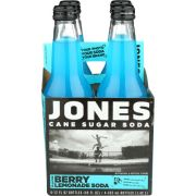 Jones Berry Lemonade Cane Sugar Soda, 4 count per pack -- 6 per case