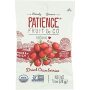 Patience Fruit and Co Organic Dried Cranberries - Caddy, 1 Ounce -- 15 per case
