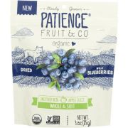 Patience Fruit and Co Whole and Soft Dried Wild Blueberries, 3 Ounce -- 8 per case