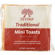 Divina Traditional Mini Toasts, 2.82 Ounce -- 24 per case