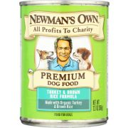 Newmans Own Organic Turkey and Chicken Rice Recipe for Dog, 12.7 Ounce Can -- 6 per case