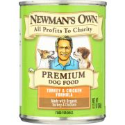 Newmans Own Organic Turkey and Chicken for Dog, 12.7 Ounce Can -- 6 per case