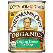 Newmans Own Organic Grain Free Chicken Dinner for Dog, 12.7 Ounce Can -- 12 per case