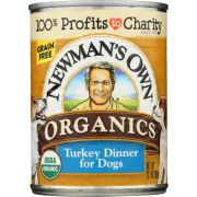 Newmans Own Organic Grain Free Turkey Dinner for Dog, 12.7 Ounce Can -- 12 per case