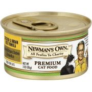 Newmans Own Organic Chicken and Brown Rice Formula for Cat, 3 Ounce Can -- 24 per case